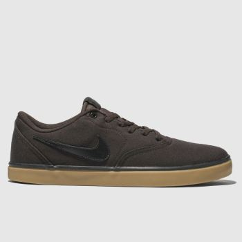 Nike Sb Brown Check Solarsoft Mens Trainers