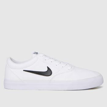 Nike SB White & Black Charge Slr Mens Trainers