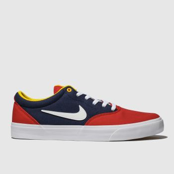 Nike Sb Navy & Red Charge Solarsoft Mens Trainers