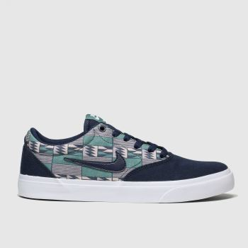 Nike Sb Navy Charge Solarsoft Mens Trainers