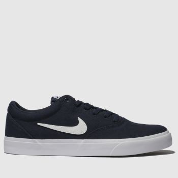Nike Sb Navy & White Charge Solarsoft Mens Trainers#