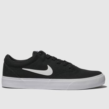 Nike SB Black & White Charge Solarsoft Trainers