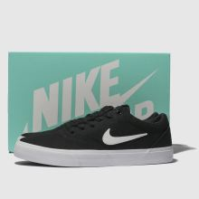 mens black   white nike sb charge solarsoft trainers  8a143897d