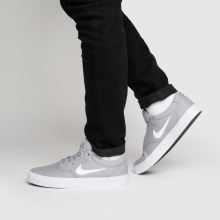 nike sb grey charge solarsoft trainers