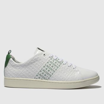 Lacoste White & Green Carnaby Evo Mens Trainers