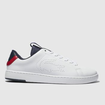 233899b347be66 Lacoste White   Navy Carnaby Evo Light Mens Trainers