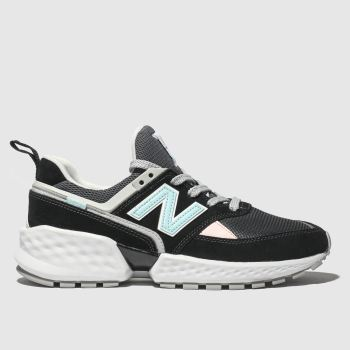 New Balance Black & White 574 V2 Mens Trainers