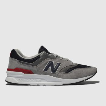 New Balance Grey & Navy 997 Trainers