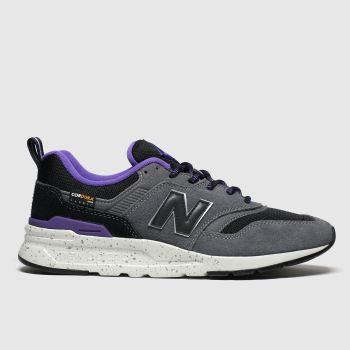 new balance black & grey 997 trainers