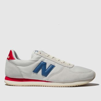 New Balance White & Red 220 Trainers