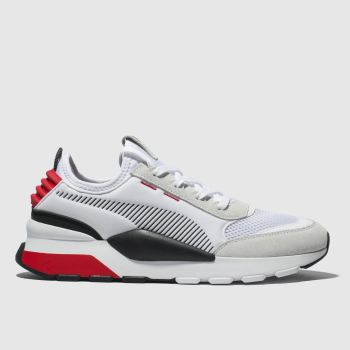 Puma White & Red Rs-0 Winter Inj Toys Mens Trainers