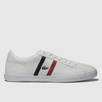 Lacoste White & Navy Lerond Mens Trainers