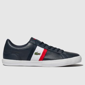 Lacoste Navy & Red Lerond Mens Trainers
