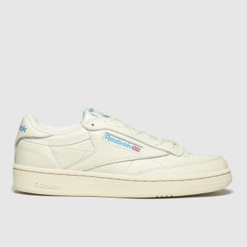 Reebok White & Blue Club C 85 Mens Trainers