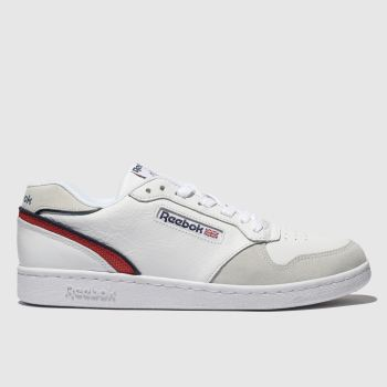 Reebok White & Red Act 300 Mens Trainers