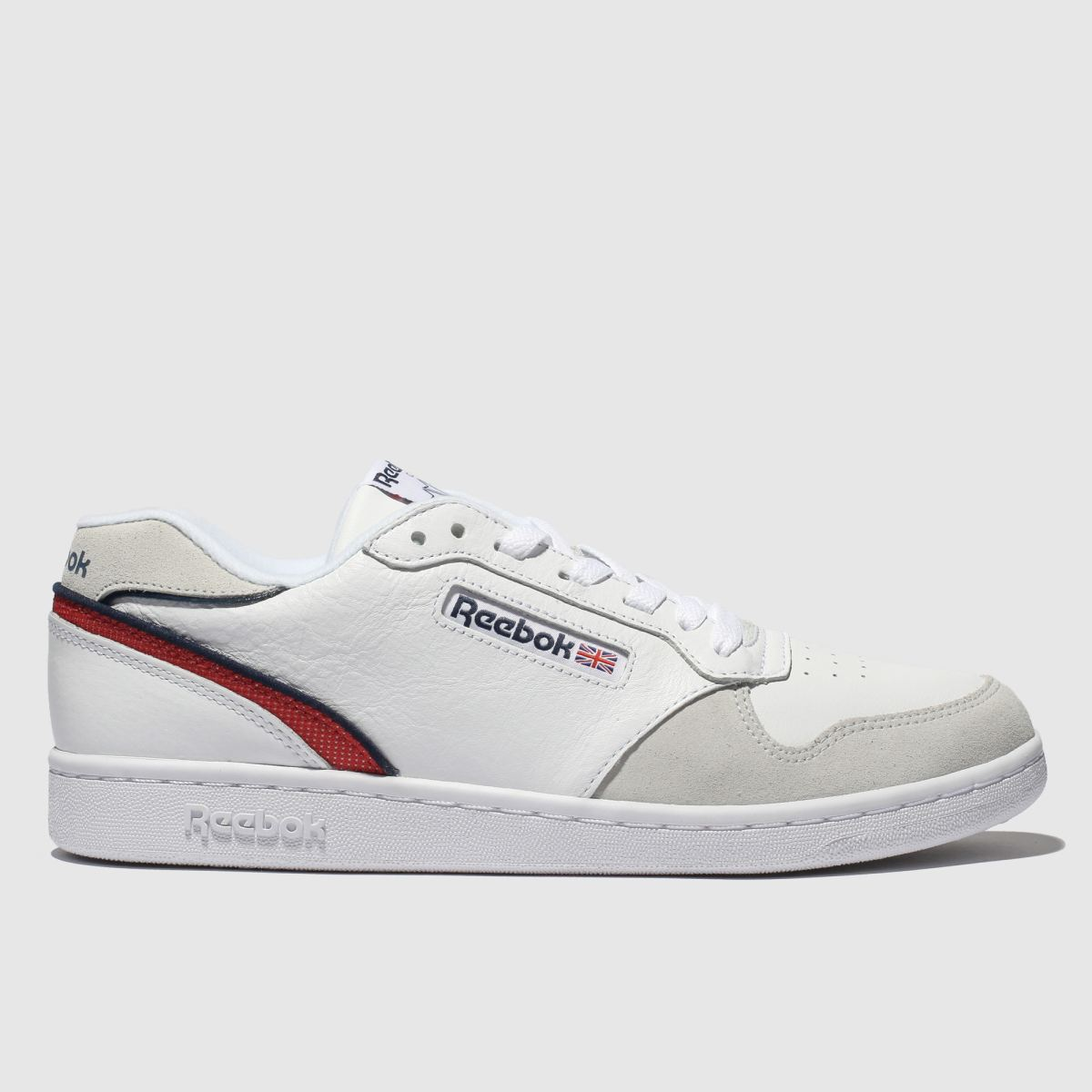 Reebok White & Red Act 300 Trainers