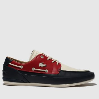 Lacoste Navy & Red Marina Mens Trainers