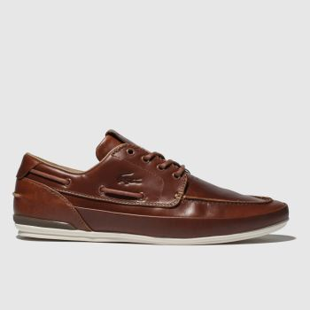 Lacoste Brown Marina Mens Trainers