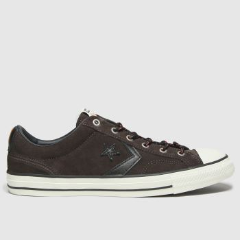 Converse Dark Brown Star Player Ox Mens Trainers