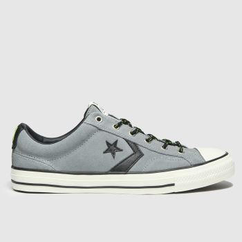 Converse Grey Star Player Ox Mens Trainers