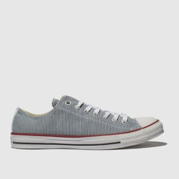 fe85cc4cfd0409 Converse White   Blue Chuck Taylor All Star Ox Mens Trainers