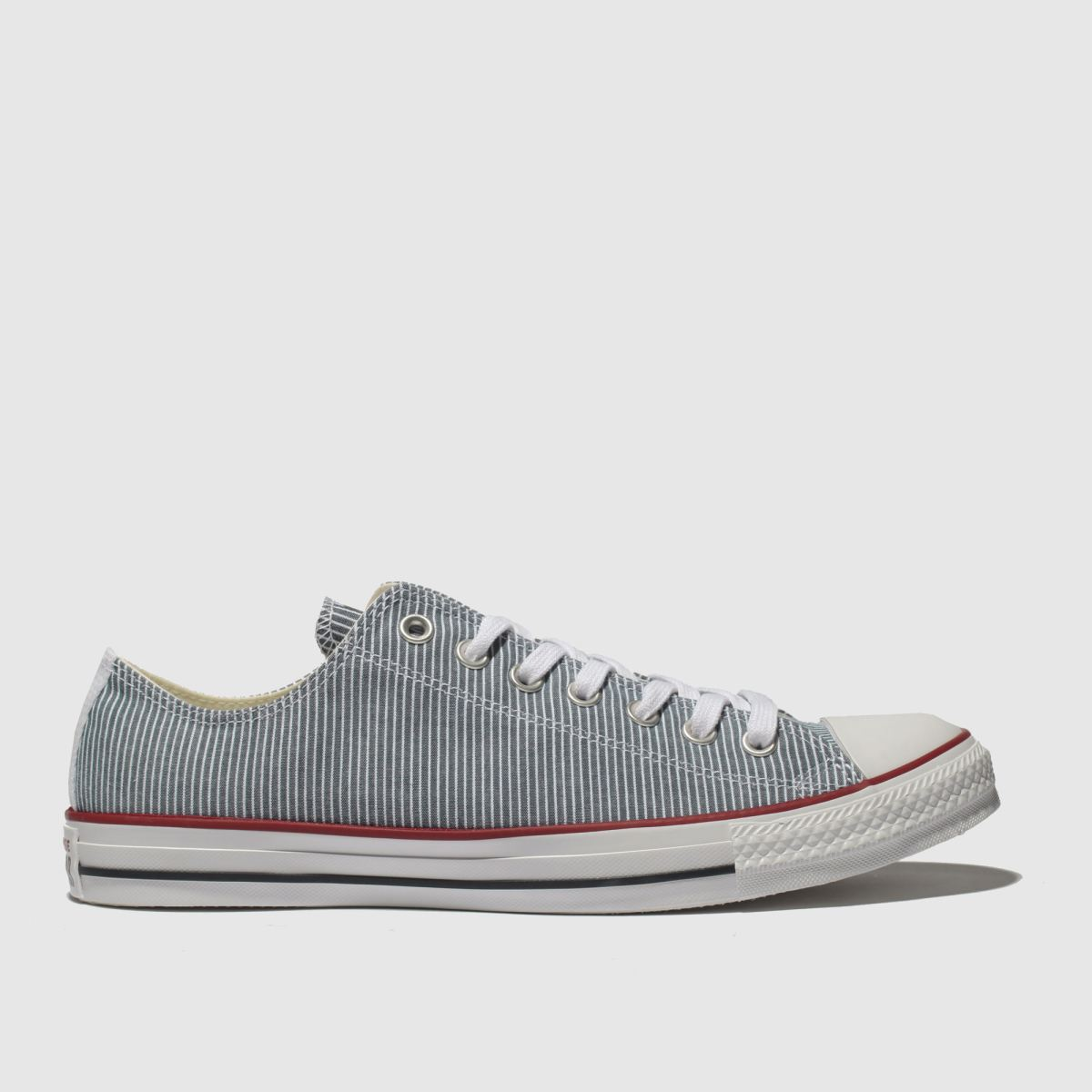 Converse White & Blue Chuck Taylor All Star Ox Trainers