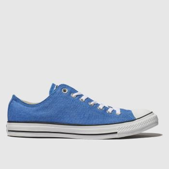 Converse Blue All Star Washed Ox Mens Trainers