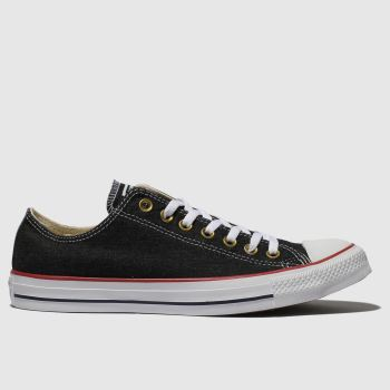 9b506e5e90cd Converse Black Chuck Taylor All Star Ox Mens Trainers