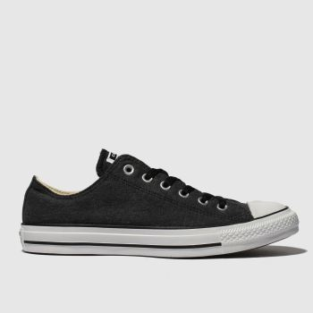 Converse Black & White All Star Washed Ox Mens Trainers