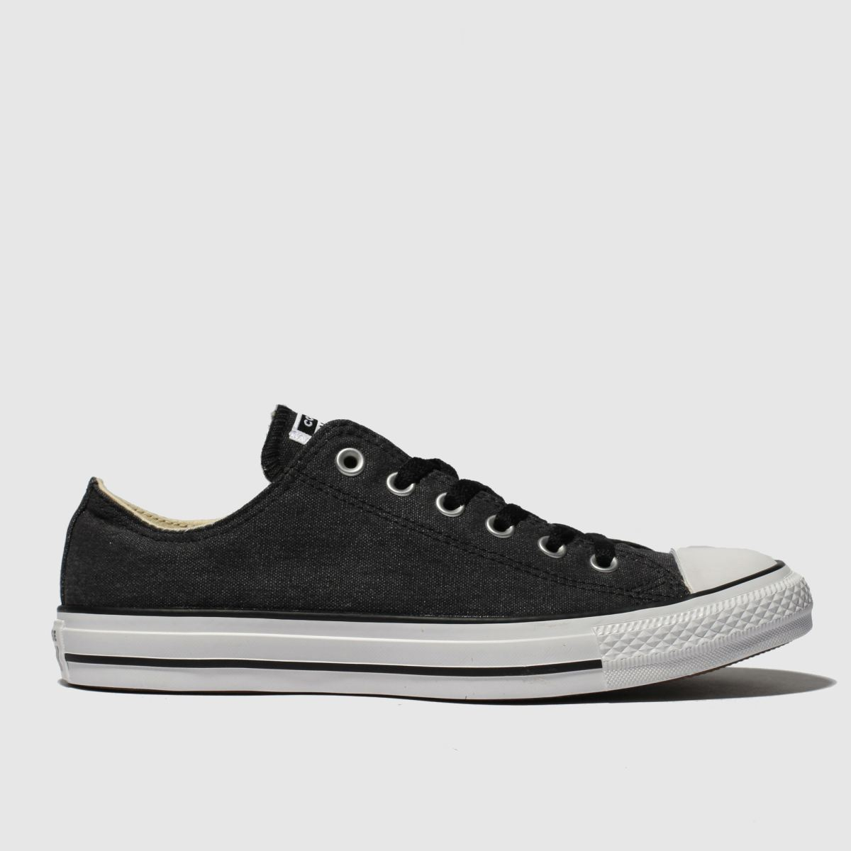 Converse Black & White All Star Washed Ox Trainers