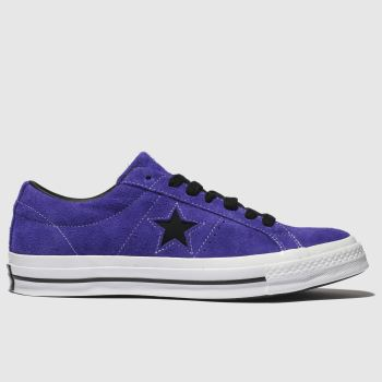 CONVERSE PURPLE ONE STAR OX TRAINERS