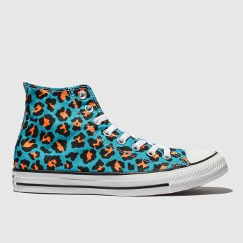 Converse Blue Cons Ctas Courtside Animal Hi Mens Trainers