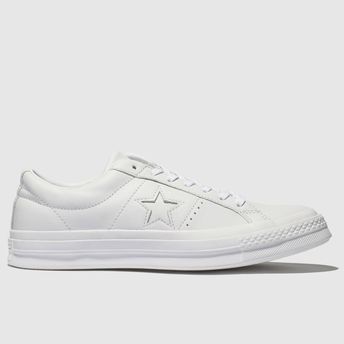 Converse White One Star Ox Trainers