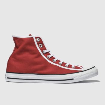 CONVERSE RED CHUCK TAYLOR ALL STAR HI TRAINERS
