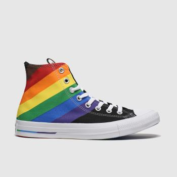 Converse Black All Star Pride Hi Mens Trainers#