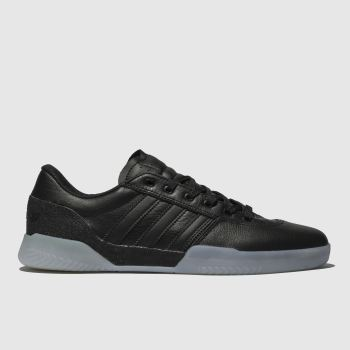 Adidas Skateboarding Black and blue City Cup Mens Trainers