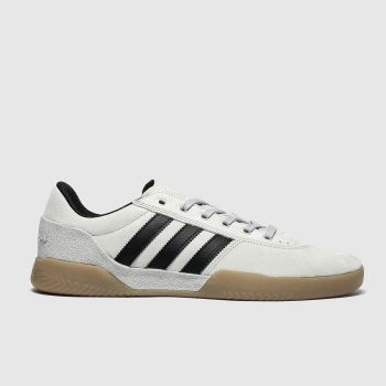 Adidas Skateboarding Grey & Black City Cup Trainers