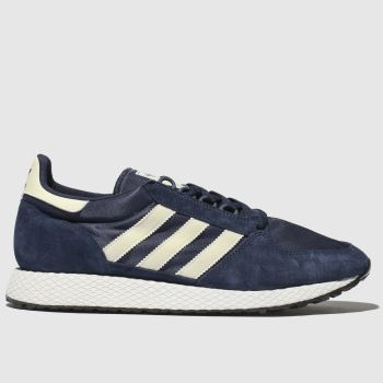 Adidas Navy & White Forest Grove Mens Trainers