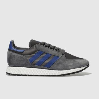 Adidas Dark Grey Forest Grove Mens Trainers