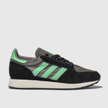 Adidas Black & Green Forest Grove Mens Trainers