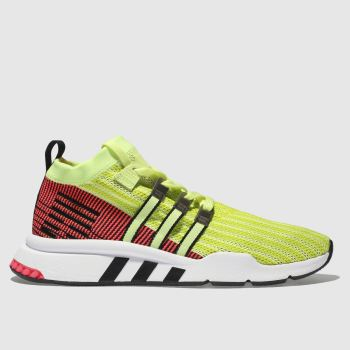 Adidas Yellow Eqt Support Mid Adv Primeknit Mens Trainers