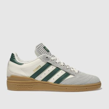 Adidas Skateboarding White & Green Busenitz Mens Trainers