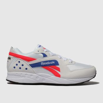 reebok white & red pyro trainers