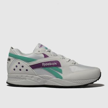 Reebok White & Purple Pyro Mens Trainers