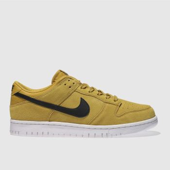 NIKE YELLOW DUNK LOW TRAINERS