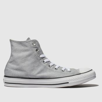 Converse Grey All Star Washed Hi c2namevalue::Mens Trainers