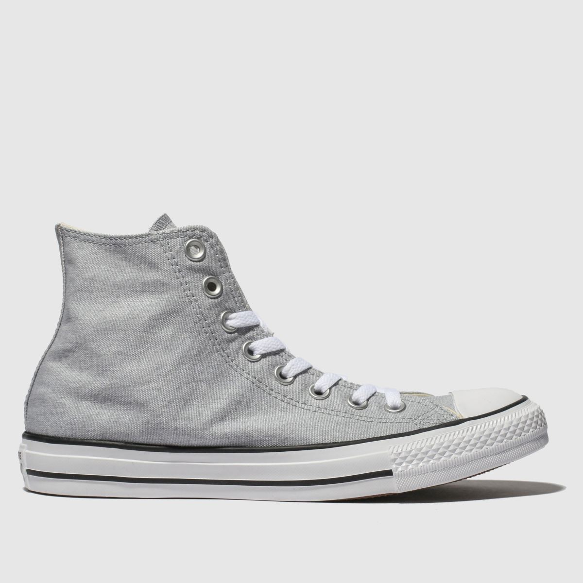 Converse Grey All Star Washed Hi Trainers