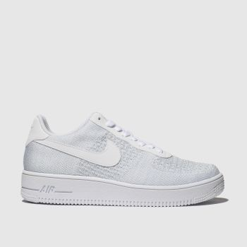 nike pale blue air force 1 flyknit trainers