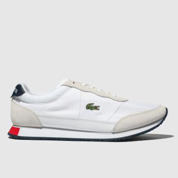 Lacoste White & Navy Partner Mens Trainers