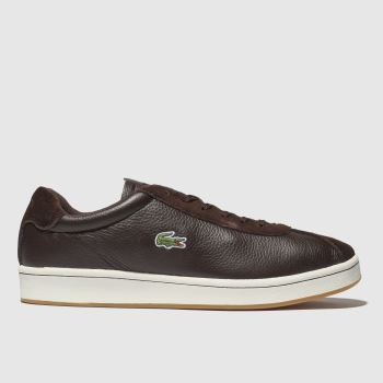 Lacoste Dark Brown Masters Mens Trainers